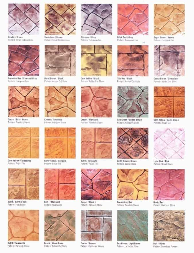Everpave Colour Pattern Combination Chart 1