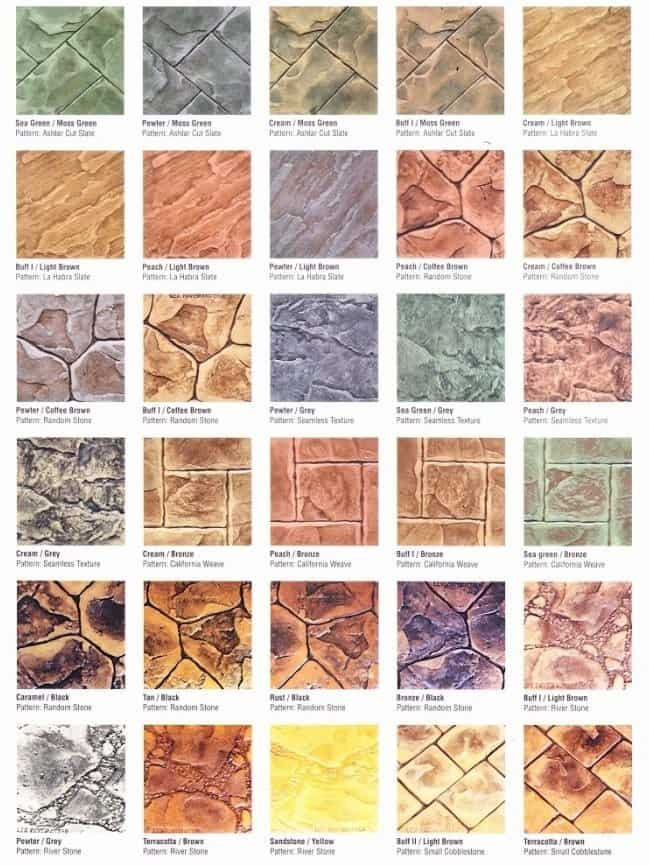Everpave Colour Pattern Combination Chart 2