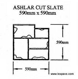 Ashlar Cut Slate