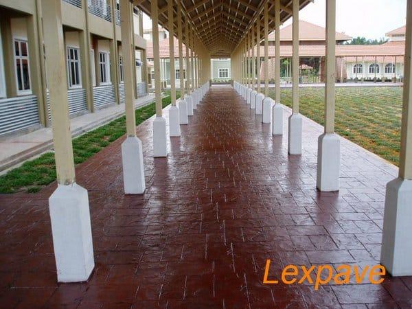 Concrete Imprint Walkway And Apron