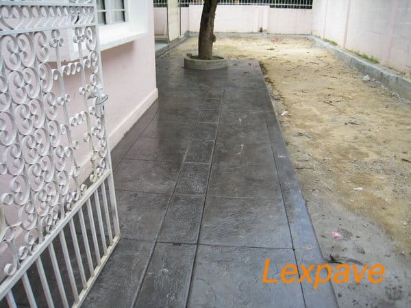 Concrete Imprint Walkway Apron