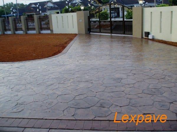 Concrete Stamped Driveway