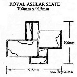 Royal Ashlar Slate